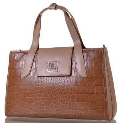 Женская кожаная сумка WANLIMA (ВАНЛИМА) W12029480014-coffee Wanlima