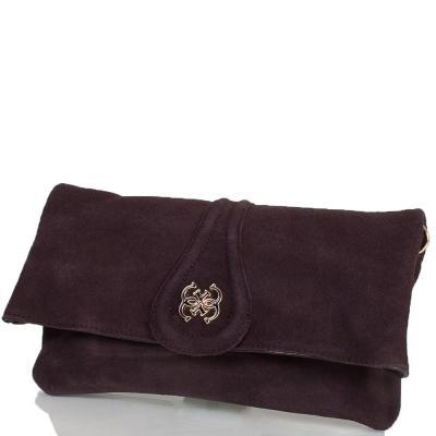 Женская сумка-клатч из качественного кожезаменителя и натуральной замши ANNA&LI (АННА И ЛИ) TU13784-brown ANNA&LI