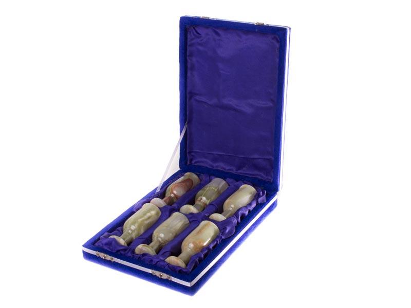 Набор рюмок для ликера из оникса Nabor13-1-1.5-4-6