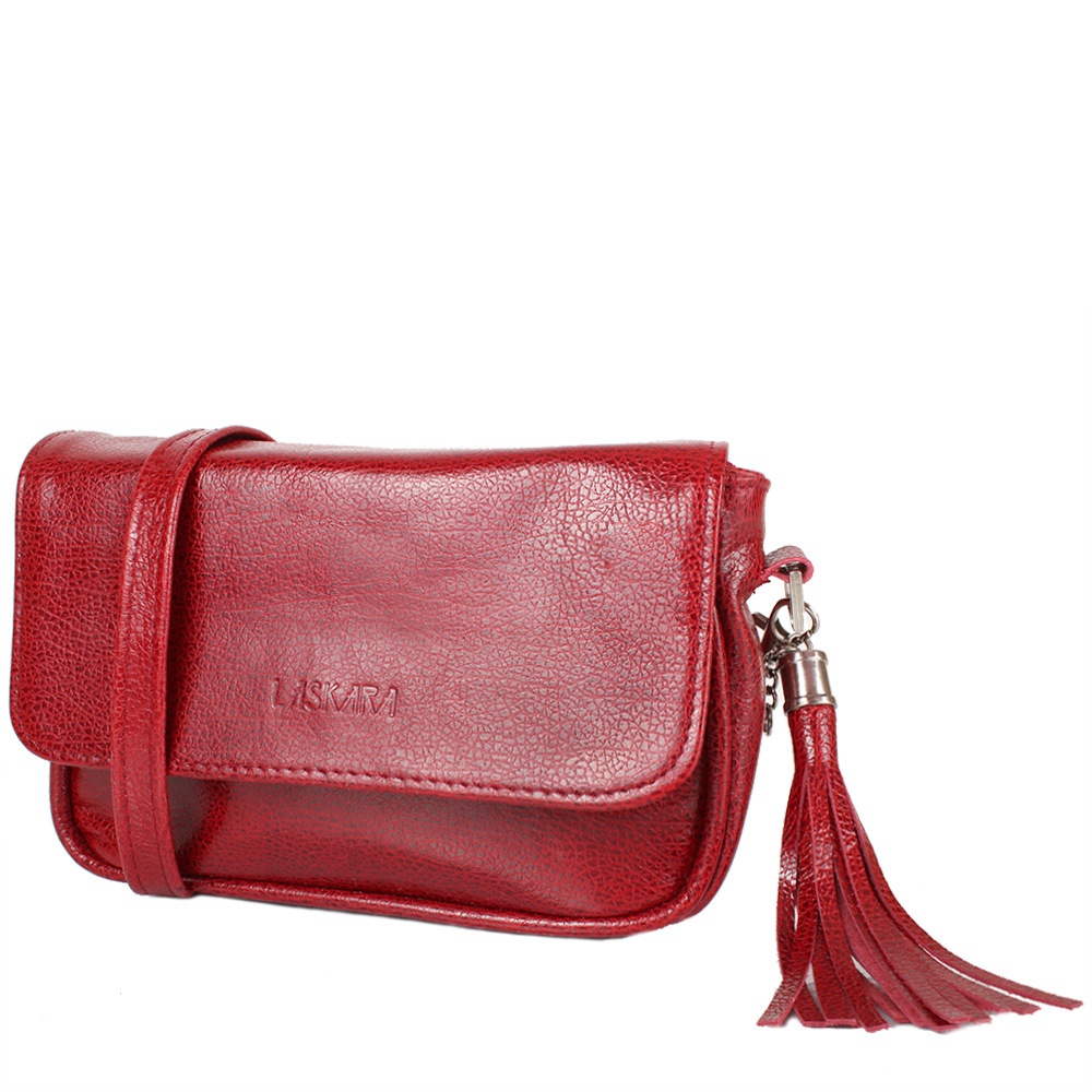 da4fc1f49930 Женская кожаная сумка-клатч LASKARA (ЛАСКАРА) LK-DD225-red-fish ...
