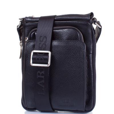 e26e96ae220b Мужская кожаная сумка-планшет LARE BOSS (ЛАРЕ БОСС ) TU65165-1-black ...