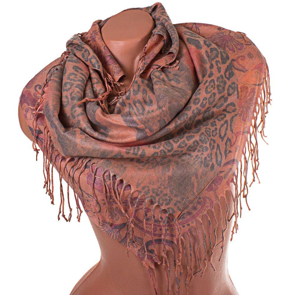 Женский двухсторонний платок из пашмины 91 на 87 см OZSOY AKSESUAR (ОЗСОЙ АКСЕСУАР) SAT12540 Ozsoy Aksesuar