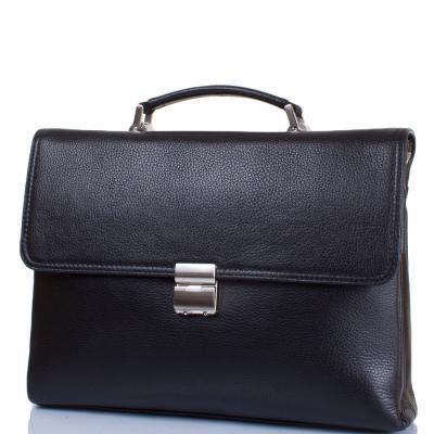 """Кожаный мужской портфель с карманом для ноутбука с диагональю экрана до 12,6"""" KARLET(КАРЛЕТ) SHI5697-011 Karlet"""