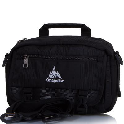 Мужская спортивная сумка ONEPOLAR (ВАНПОЛАР) W5078-black Onepolar