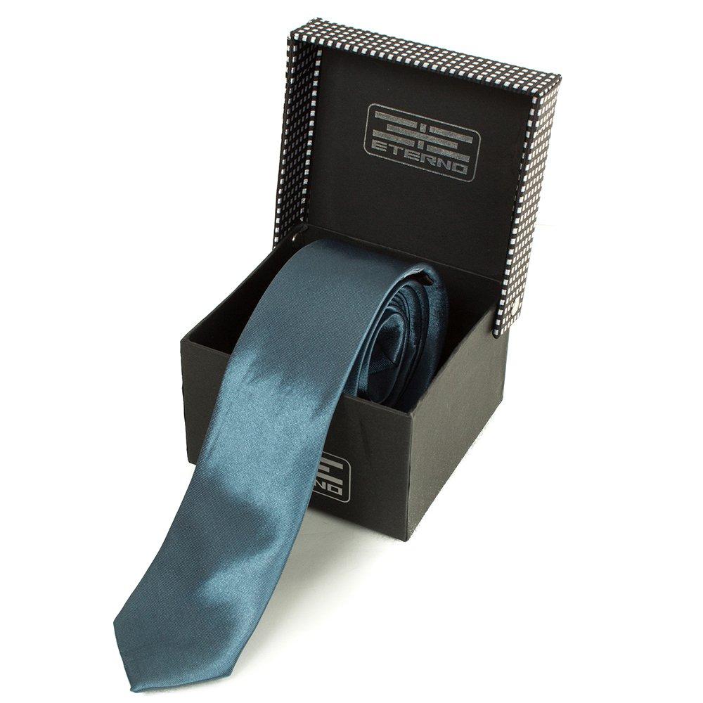 eterno Мужской узкий шелковый галстук ETERNO (ЭТЕРНО) EG627