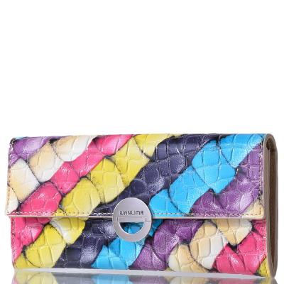 Женский кожаный кошелек WANLIMA (ВАНЛИМА) W31401750661-multicolor Wanlima