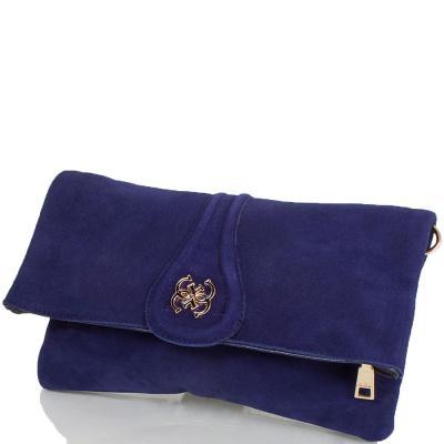 Женская сумка-клатч из качественного кожезаменителя и натуральной замши ANNA&LI (АННА И ЛИ) TU13784-navy ANNA&LI