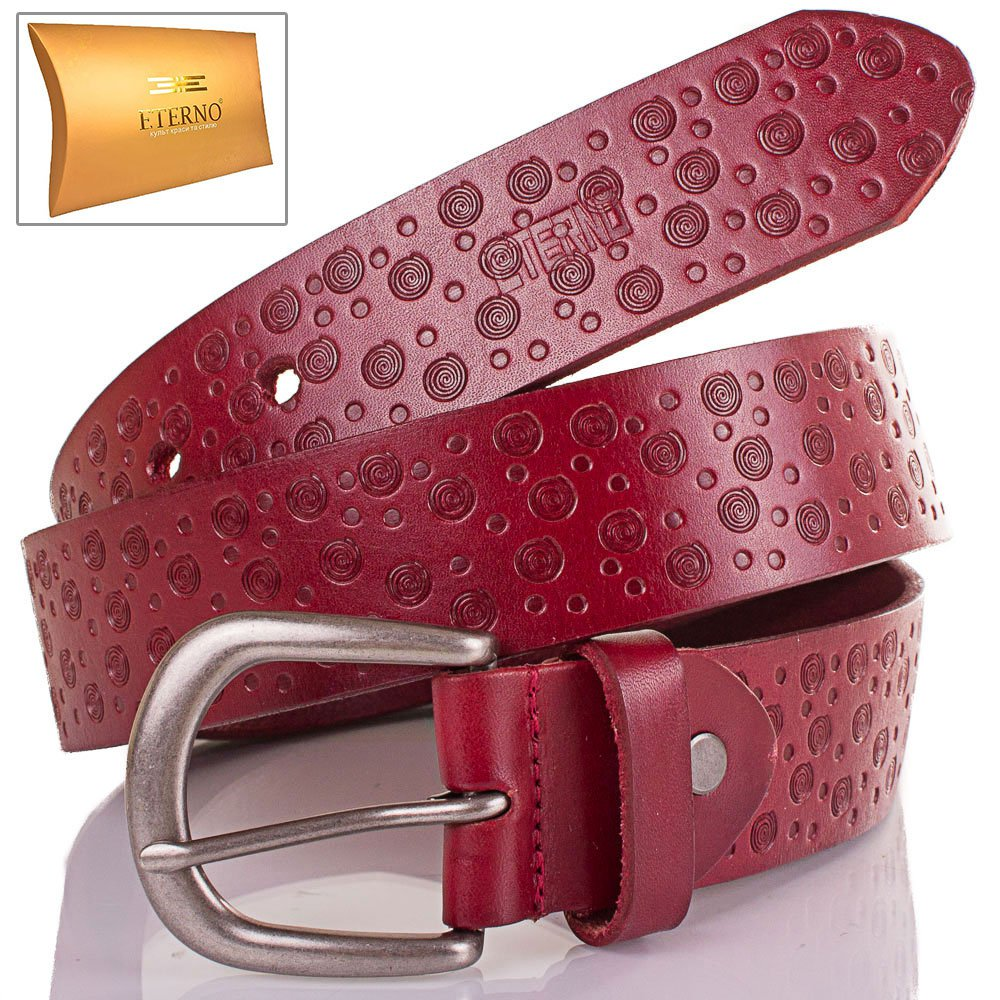 Женский кожаный ремень ETERNO (ЭТЕРНО) ETS5053-1 Eterno
