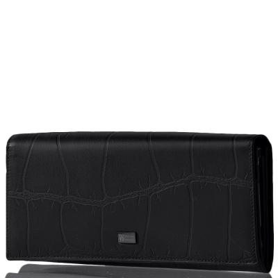 Женский кожаный кошелек WANLIMA (ВАНЛИМА) W72042410013-black Wanlima
