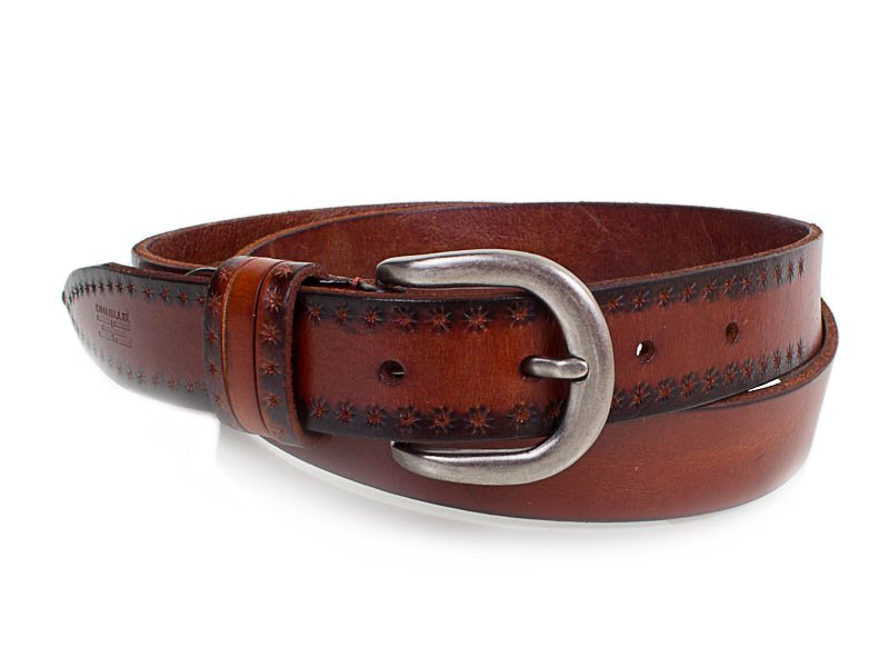 eterno Женский кожаный ремень ETERNO (ЭТЕРНО) E8015-brown