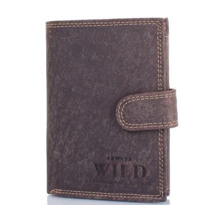 Кошелек мужской кожаный ALWAYS WILD (ОЛВЕЙС ВАЙЛД) DNKD1072L-MHU-brown Always Wild