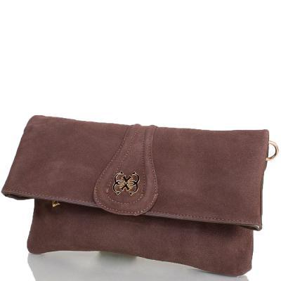 Женская сумка-клатч из качественного кожезаменителя и натуральной замши ANNA&LI (АННА И ЛИ) TU13784-khaki ANNA&LI