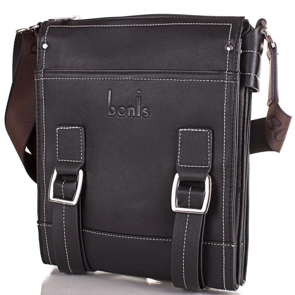 Мужская сумка-планшет из качественного кожезаменителя BONIS (БОНИС) SHIXS8476-black Bonis