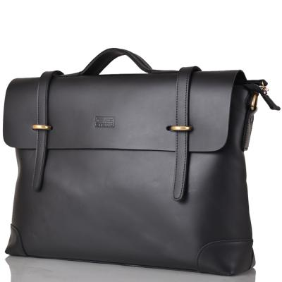 Мужской кожаный портфель ETERNO (ЭТЭРНО) ET3122-3-black Eterno