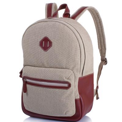 Рюкзак текстильный с кожаными вставками и карманом для ноутбука VALENTA (ВАЛЕНТА) VBM70582710 Valenta