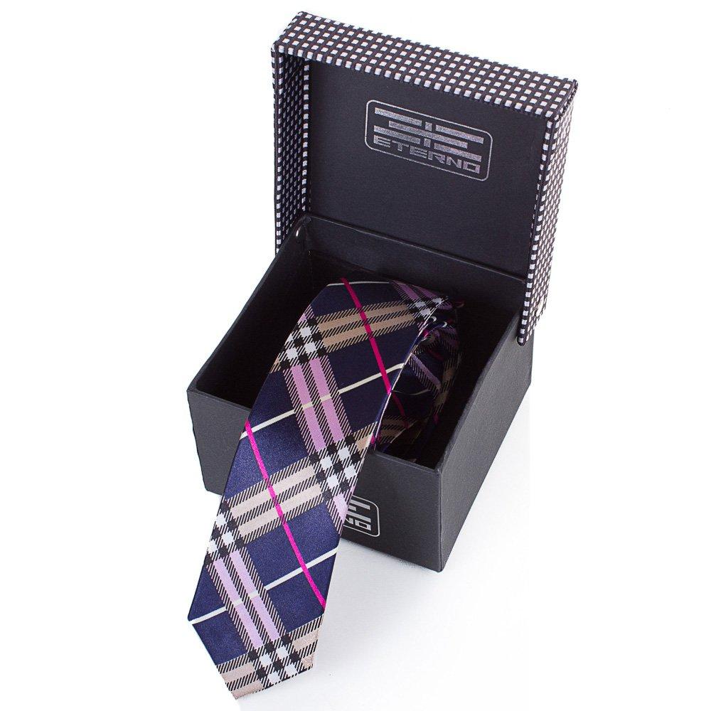 Мужской узкий шелковый галстук ETERNO (ЭТЕРНО) EG646 Eterno