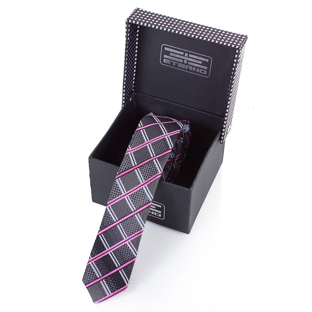 Мужской узкий шелковый галстук ETERNO (ЭТЕРНО) EG652 Eterno