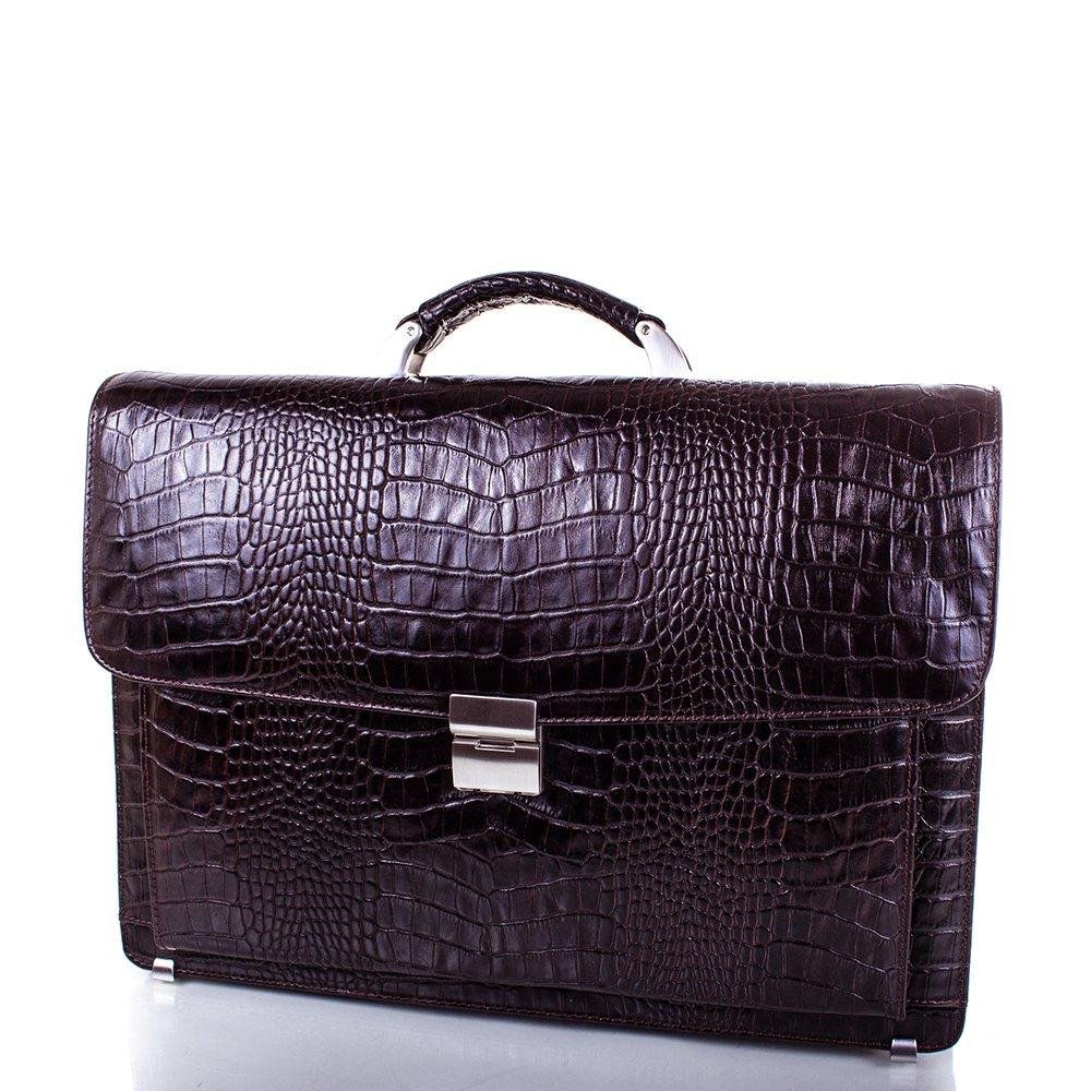 Кожаный мужской портфель DESISAN (ДЕСИСАН) SHI217-10KR Desisan