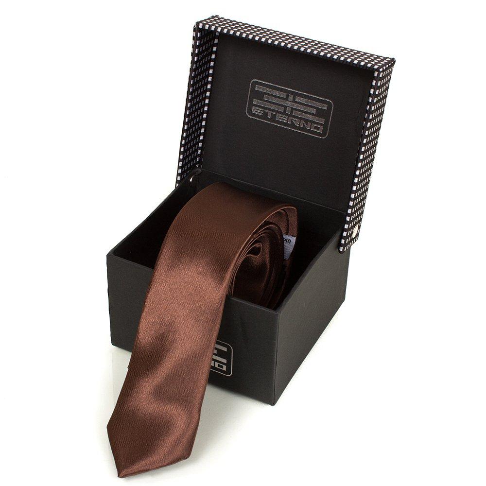Мужской узкий шелковый галстук ETERNO (ЭТЕРНО) EG621 Eterno