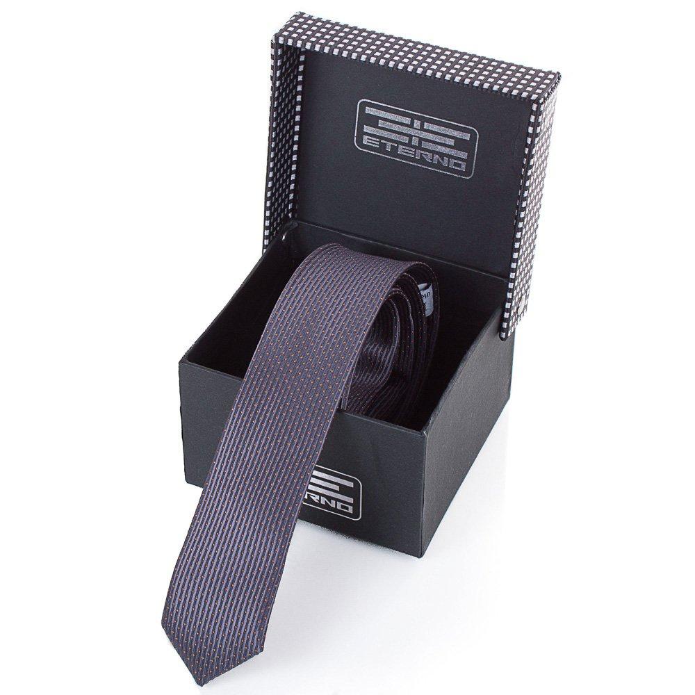 Мужской узкий шелковый галстук ETERNO (ЭТЕРНО) EG658 Eterno