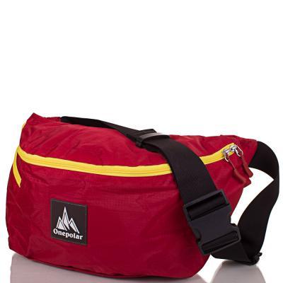 Женская поясная сумка ONEPOLAR (ВАНПОЛАР) W5271-red Onepolar