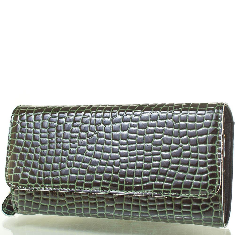 Женская сумка-клатч через плечо из качественного кожезаменителя RONAERDO (РОНАЭРДО) BAL5654-green 43891