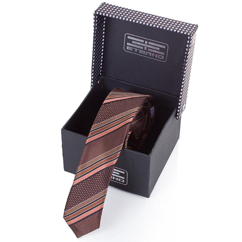 eterno Мужской узкий шелковый галстук ETERNO (ЭТЕРНО) EG654