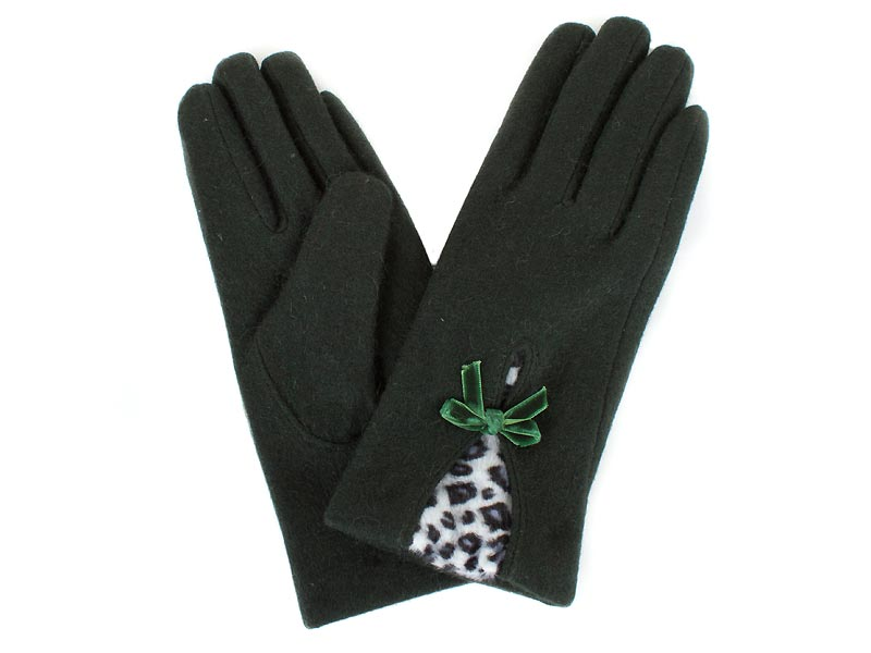 Перчатки женские шерстяные  ETERNO (ЭТЕРНО) E2539-green Eterno