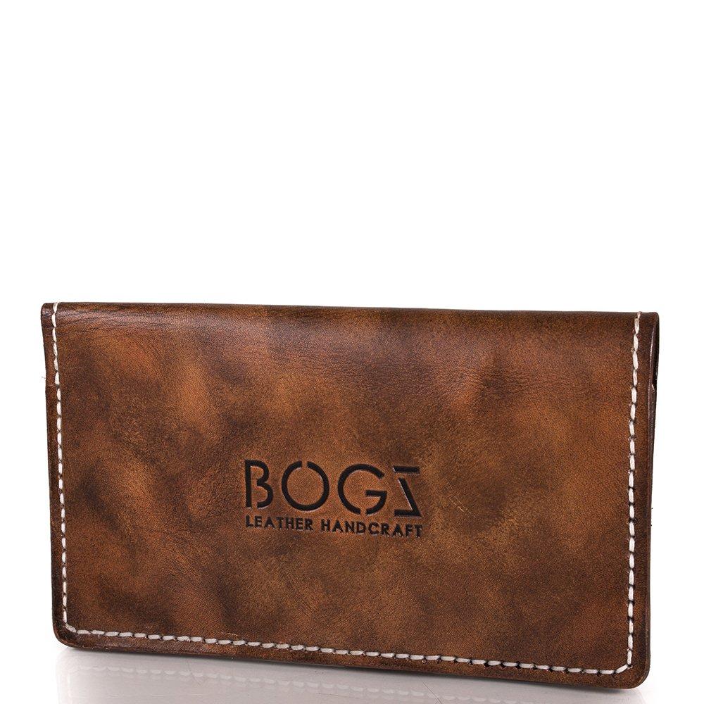 44dbbf2ee4aa Мужской кожаный бумажник ручной работы BOGZ (БОГЗ) BZ-1-A124 купить ...