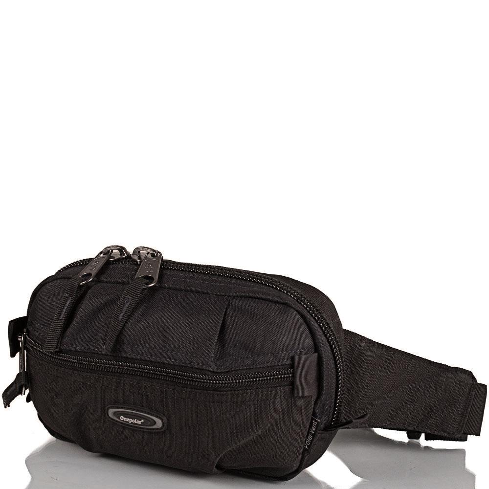 Мужская поясная сумка ONEPOLAR (ВАНПОЛАР) W3001-black Onepolar