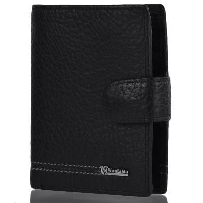 Кожаный мужской кошелек WANLIMA (ВАНЛИМА) W72042020003-black Wanlima