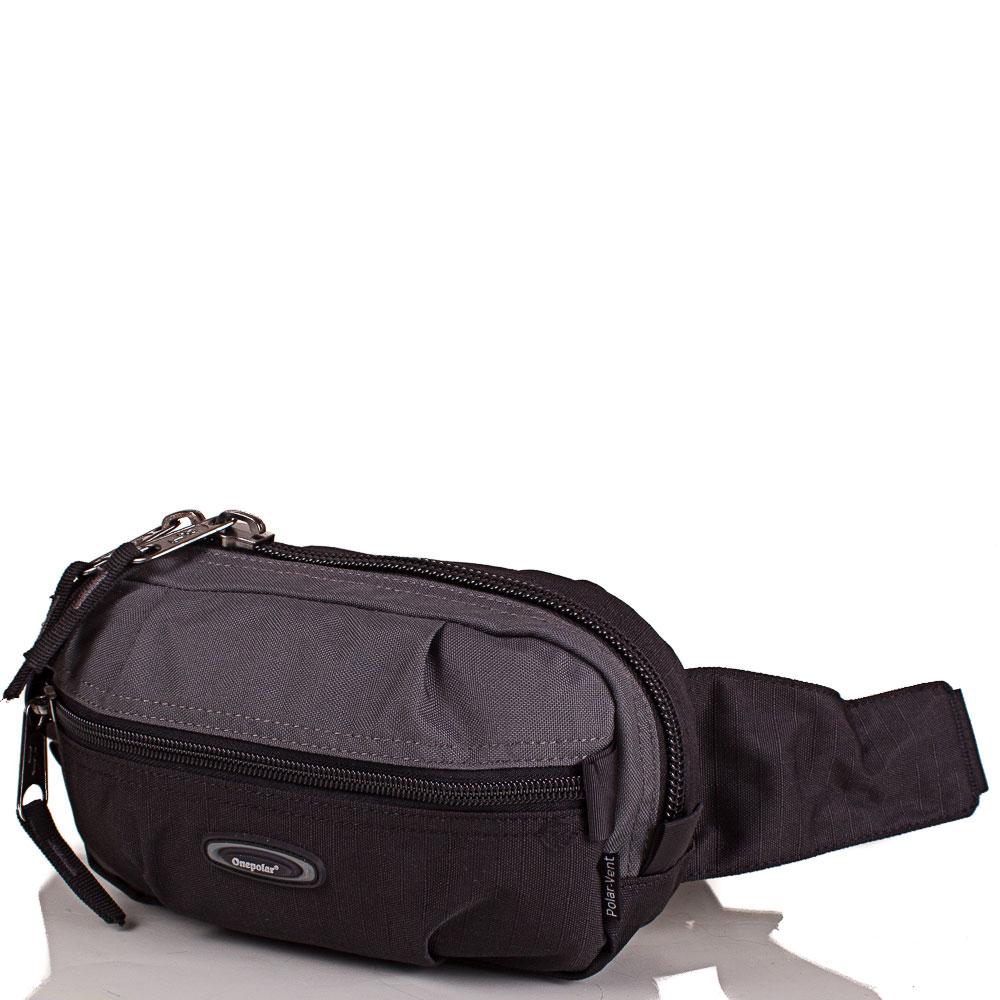 Мужская поясная сумка ONEPOLAR (ВАНПОЛАР) W3001-grey Onepolar
