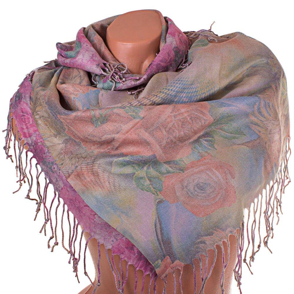 Купить:  Женский двухсторонний платок из пашмины 91 на 87 см OZSOY AKSESUAR (ОЗСОЙ АКСЕСУАР) SAT12556 Ozsoy Aksesuar