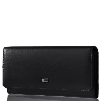 Женский кожаный кошелек WANLIMA (ВАНЛИМА) W50044076-black Wanlima