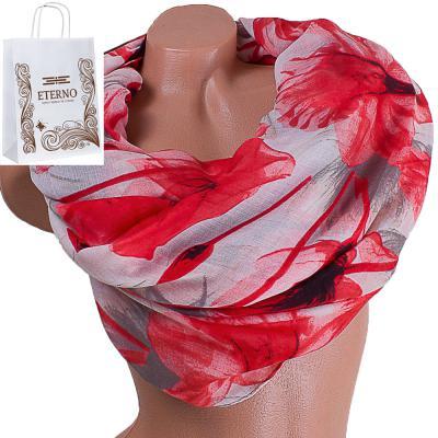 Женский хлопковый шарф 181 на 88 см  ETERNO (ЭТЕРНО) ES0908-12-3 Eterno