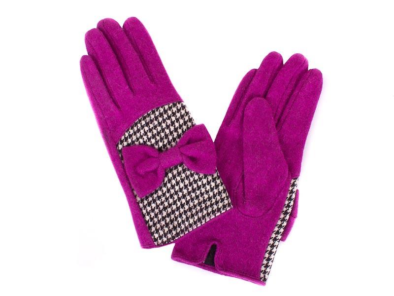 Перчатки женские шерстяные  ETERNO (ЭТЕРНО) E2529-violet Eterno