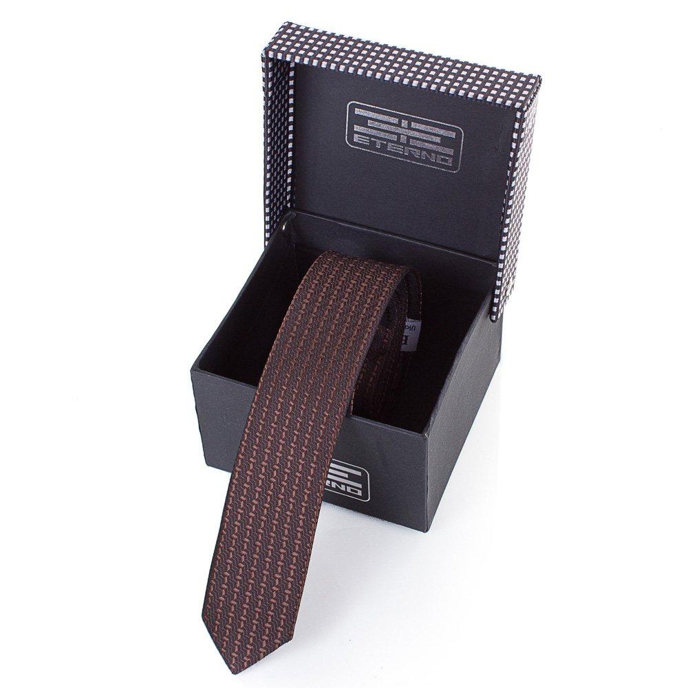 eterno Мужской узкий шелковый галстук ETERNO (ЭТЕРНО) EG653
