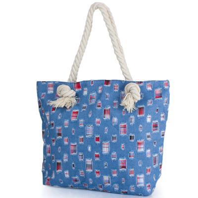 Женская пляжная джинсовая сумка ETERNO (ЭТЕРНО) DCA-001-02 Eterno