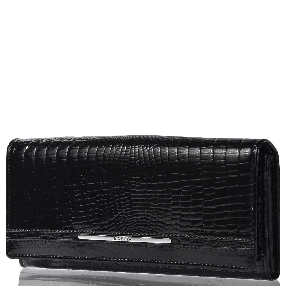 547e54b72010 Женский кожаный кошелек BALISA (БАЛИСА) MISS174006-black купить в ...
