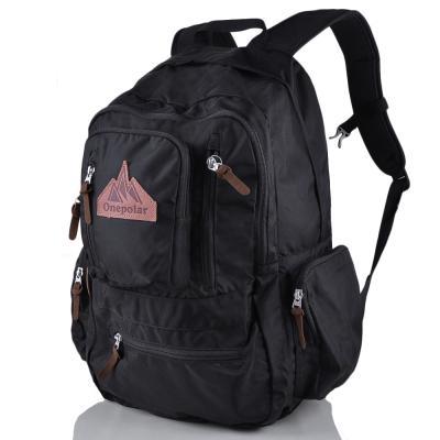Мужской рюкзак с отделением для ноутбука ONEPOLAR (ВАНПОЛАР) W1770-black Onepolar
