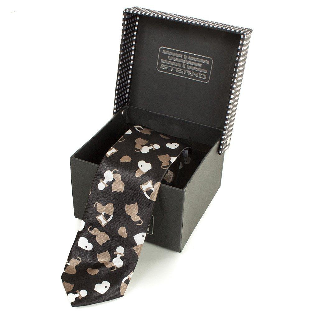 eterno Мужской узкий шелковый галстук ETERNO (ЭТЕРНО) EG628