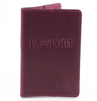 Женская кожаная обложка для паспорта DNK LEATHER (ДНК ЛЕЗЕР) DNK-Pasport-Hcol.L DNK Leather