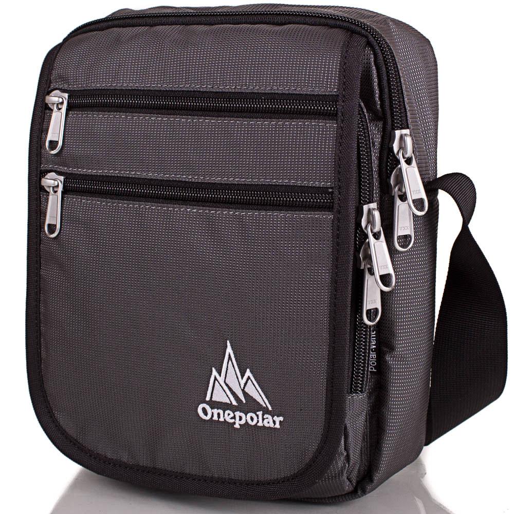 Мужская спортивная сумка ONEPOLAR (ВАНПОЛАР) W5633-grey Onepolar