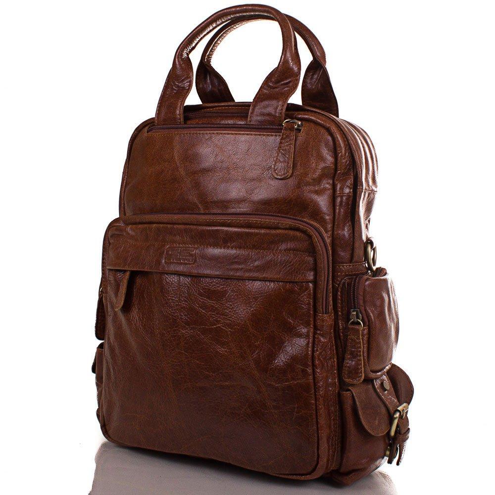 Мужская кожаная сумка-рюкзак ETERNO (ЭТЭРНО) ET2185-1 Eterno