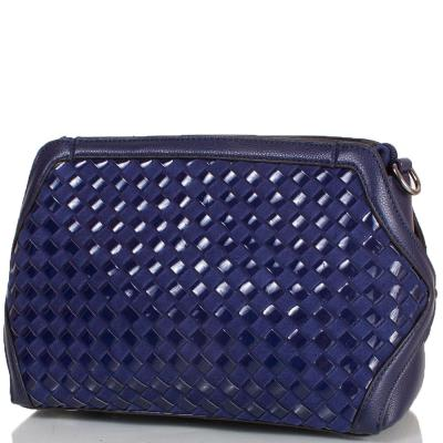 Женская сумка-клатч из качественного кожезаменителя и натуральной замши ANNA&LI (АННА И ЛИ) TU1229-2-navy ANNA&LI