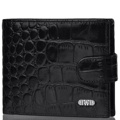 Кожаный мужской кошелек WANLIMA (ВАНЛИМА) W120467401604-black Wanlima