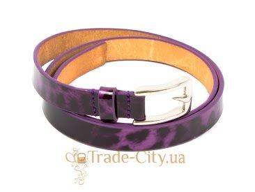 Ремень узкий женский кожаный ETERNO (ЭТЕРНО) A0129-violet Eterno