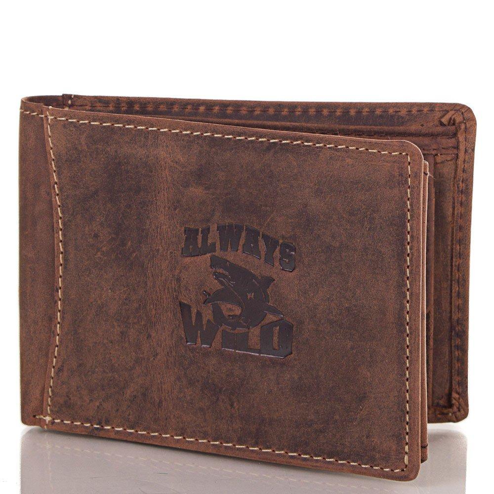 Кошелек мужской кожаный ALWAYS WILD (ОЛВЕЙС ВАЙЛД) DNKN992-H-brown Always Wild