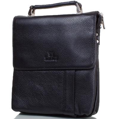 Мужская кожаная сумка LARE BOSS (ЛАРЕ БОСС) TU49560-3-black Lare Boss