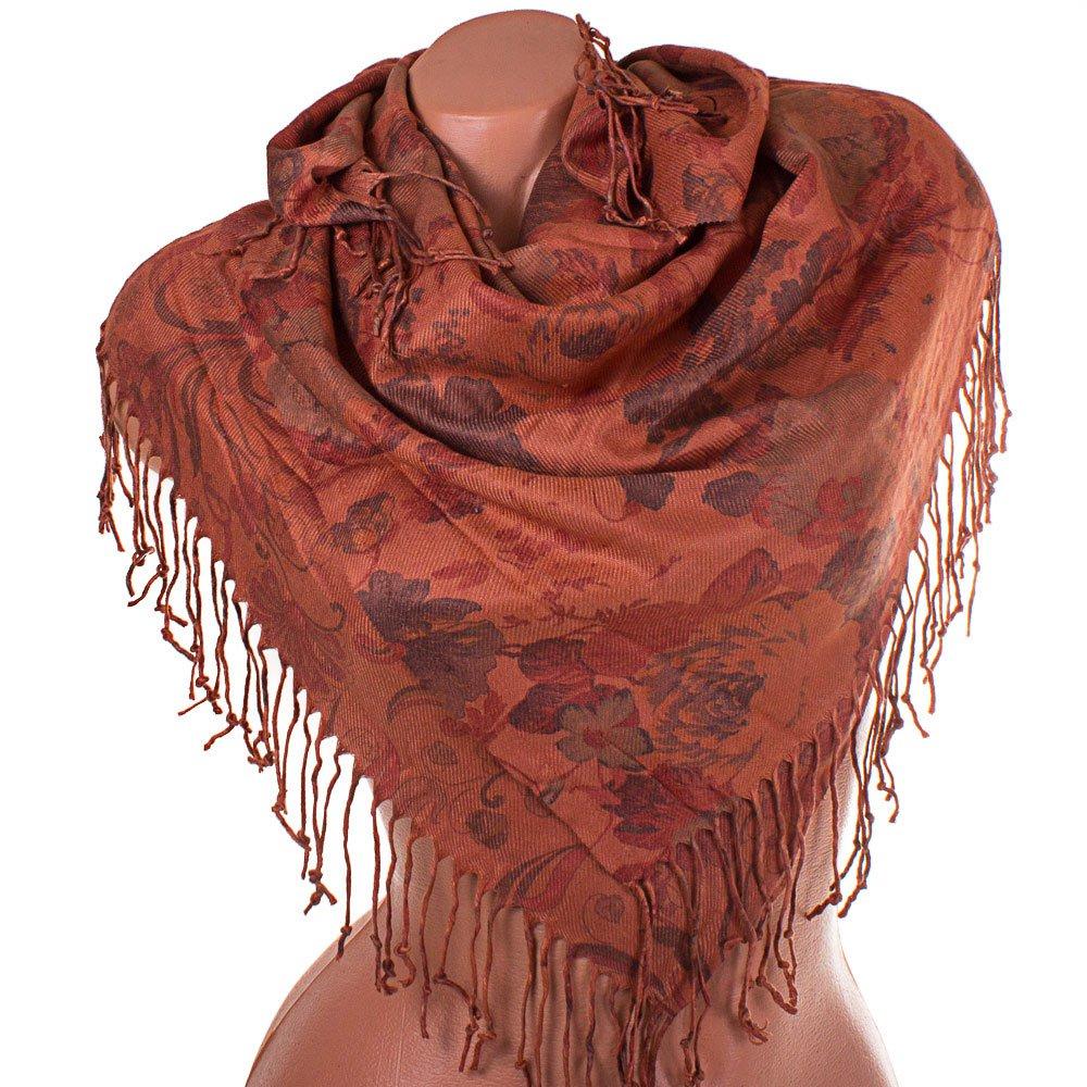 Женский двухсторонний платок из пашмины 91 на 84 см OZSOY AKSESUAR (ОЗСОЙ АКСЕСУАР) SAT12541 Ozsoy Aksesuar